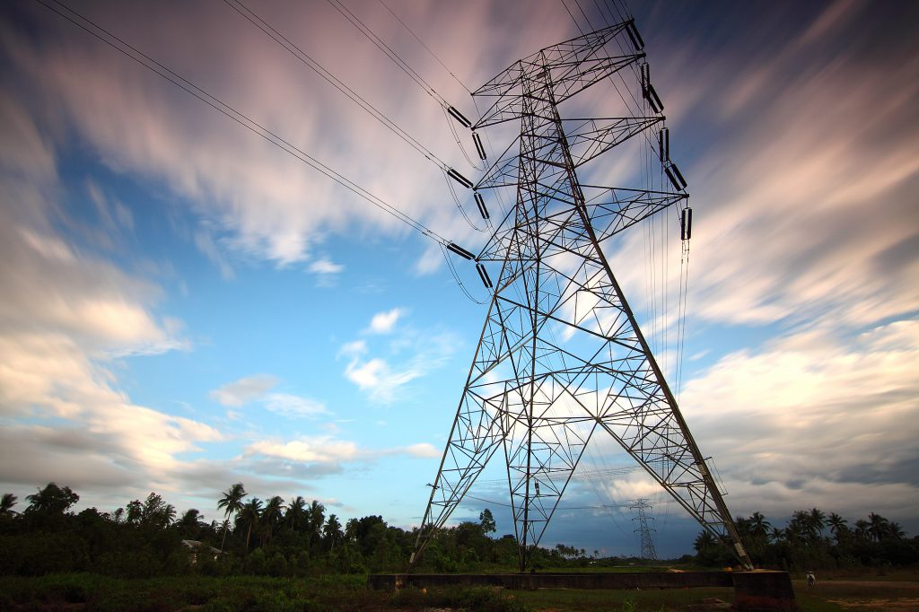 power electronics industrial heat insulation on electricity pylons