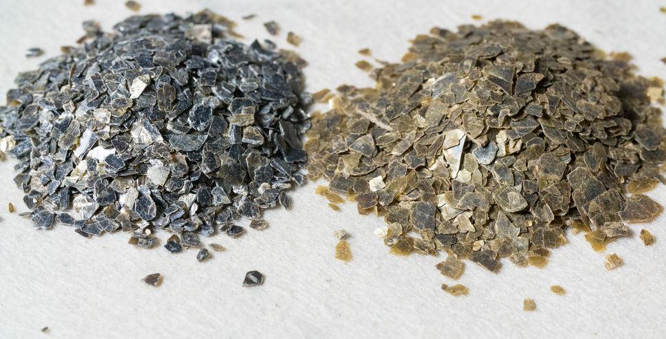 Образцы минерального вермикулита для добычи минерального сырья