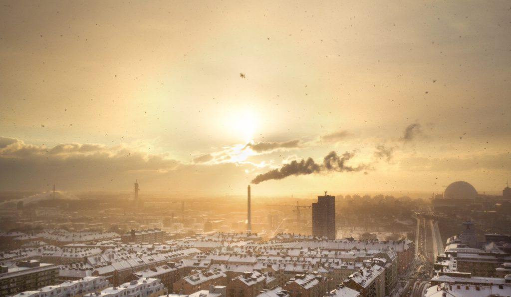 Image of industrial landscape at sunset for blog by Elmelin, industrial insulation specialists