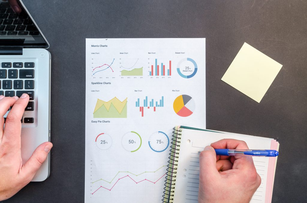 computer and charts for product marketing made easy by prototyping