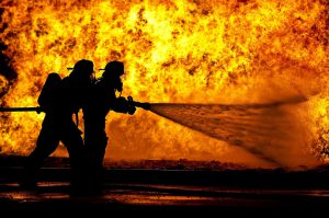 firefighters tackling a blaze for blog by Elmelin answering is mica safe