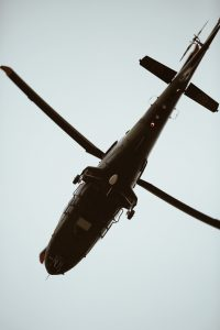 image of military helicopter for blog by Elmelin on high temperature insulation solutions for the military sector