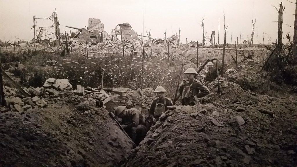 WW1 trenches for blog by Elmelin on military vehicles through the ages