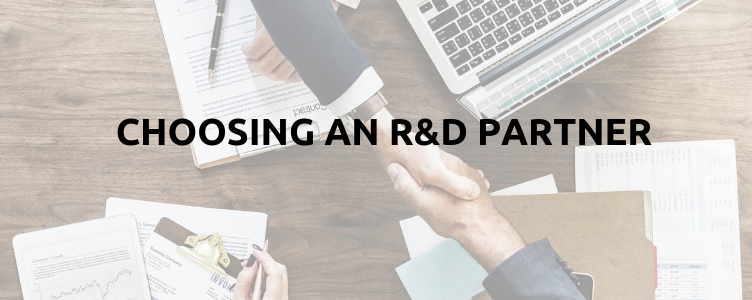 Choosing an R&D Partner