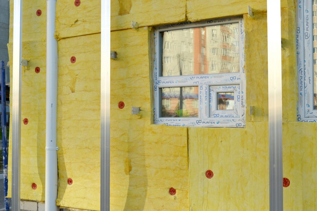 Thin thermal insulation for houses