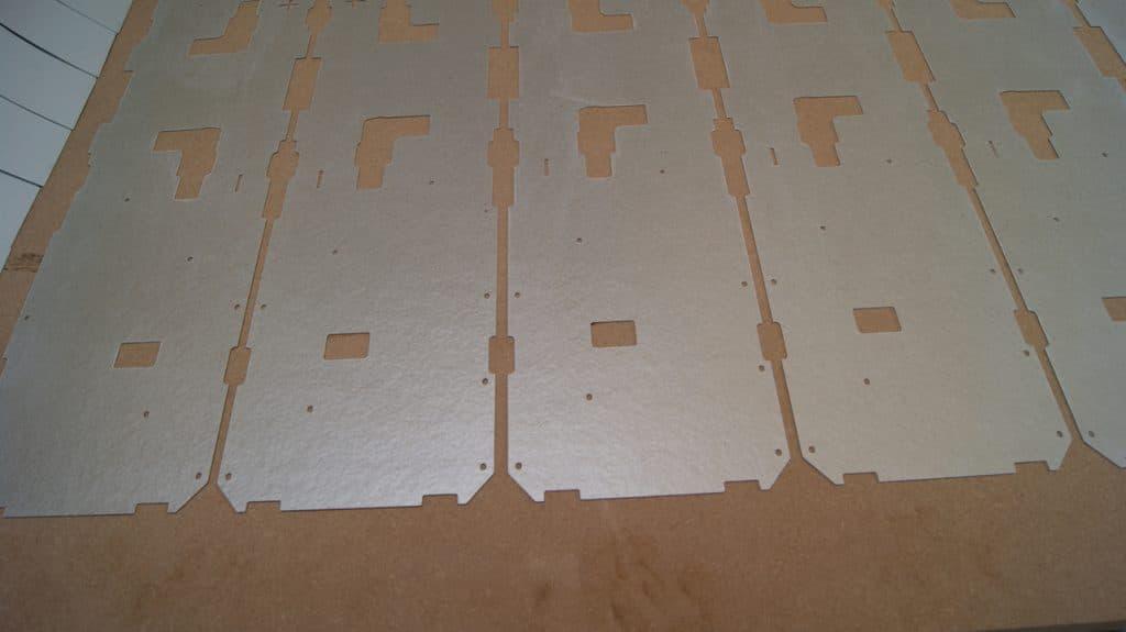 Thin mica sheet cut into custom shapes
